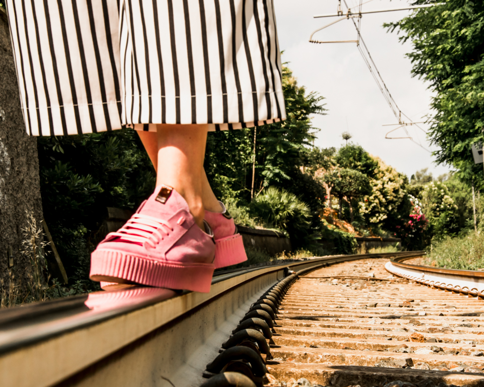 Pink Stripes & Flowers: le mie nuove sneakers Ana Lublin