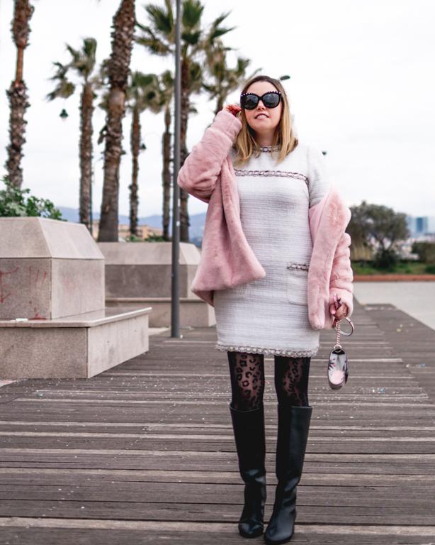 Indossare il bianco in inverno: Chanel, Palme e Cristalli