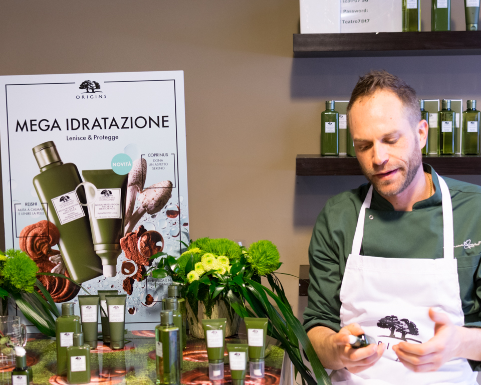 MEGA-MUSHROOM by Origins: super idratazione e cooking class con Simone Rugiati