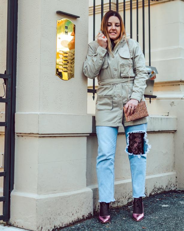Camicia in tulle e jeans: look casual da giorno e da sera