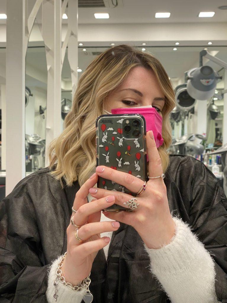 Blazer in tweed & sneakers + nuovo hair look // OOTD